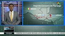 Guatemala: caravana de migrantes salvadoreños espera ingresar a México