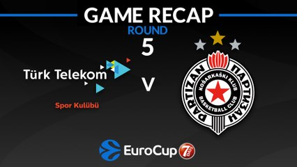7Days EuroCup Highlights Regular Season, Round 5: Turk Telekom 77-72 Partizan