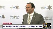 RAW: Sheriff Penzone says gun used in I-17 shooting belonged to MCSO