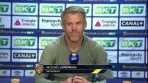La réaction de Mickaël Landreau après Toulouse FC - FC Lorient (0-1) - Coupe de la Ligue BKT 18-19