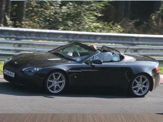 Aston Martin Vantage V8 Roadster (2008) spy video