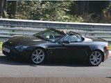 Aston Martin Vantage V8 Roadster (2008) spy video