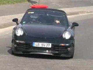 Porsche 911 Cabriolet (2009) spy video
