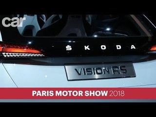 Skoda Vision RS concept – plug-in hybrid performance for VW Golf GTI-sized hatchback