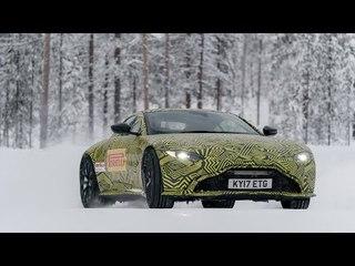 New 2018 Aston Martin Vantage reviewed - on ice