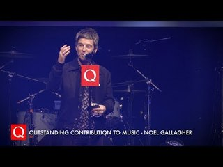 Bono Presents Noel Gallagher with the Outstanding Contribution To Music Award #QAwards
