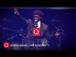 """We gotta do the black version of that sh*t!"" Nile Rodgers collects his Q Legend Award!"