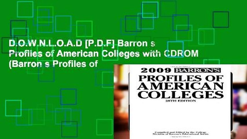D.O.W.N.L.O.A.D [P.D.F] Barron s Profiles of American Colleges with CDROM (Barron s Profiles of