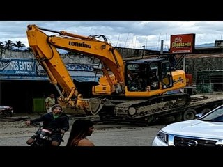 Excavator works On The Remote Area