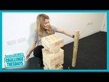 Grace Helbig takes the Jenga Challenge
