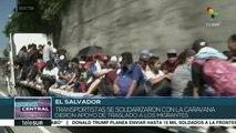 Segunda caravana de migrantes salvadoreños llega a Guatemala