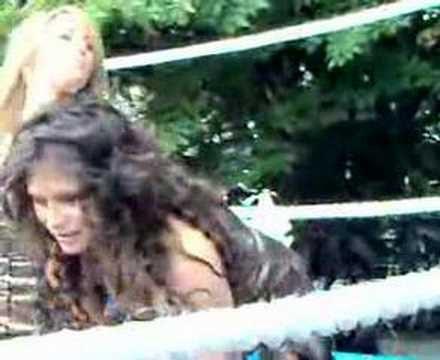 Katie Downes Mud Wrestles