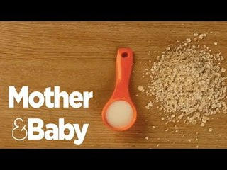How to make porridge fingers - an easy baby breakfast
