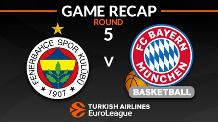 EuroLeague 2018-19 Highlights Regular Season Round 5 video: Fenerbahce 88-84 Bayern