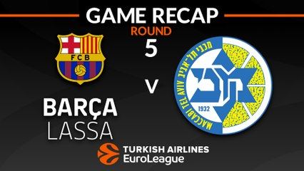 EuroLeague 2018-19 Highlights Regular Season Round 5 video: Barcelona 74-58 Maccabi