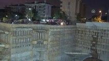 Ümraniye'de İnşaat Alanı Yanındaki Yolda Göçük (3)
