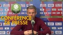 Conférence de presse AS Béziers - FC Lorient (0-1) : Mathieu CHABERT (ASB) - Mickaël LANDREAU (FCL) - 2018/2019
