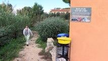 Le ramassage des déchets en cours à Port-de-Bouc