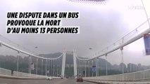 Chine : une dispute dans un bus  provoque la mort d'au moins 13 personnes