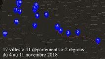 Itinérance du président de la République du 4 au 11 novembre 2018