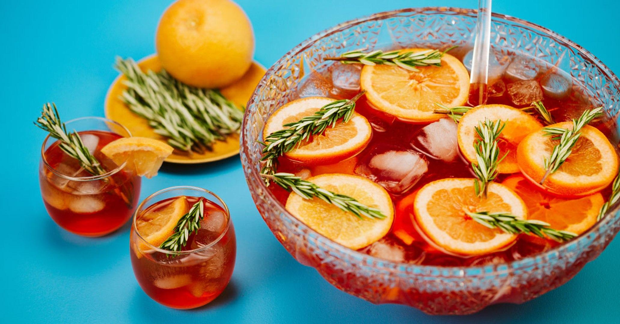 Bourbon Rosemary Punch Cocktail Recipe - Liquor.com