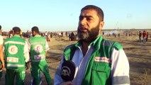 İsrail askerleri Gazze sınırında 7 Filistinliyi yaraladı (1) - GAZZE