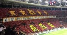 Galatasaraylı Taraftarlar, Dev Derbi Öncesi Türk Telekom Stadyumunda Görsel Şov Yaptı