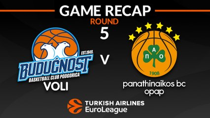 EuroLeague 2018-19 Highlights Regular Season Round 5 video: Buducnost 67-72 Panathinaikos