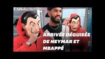 Mbappé et Neymar arrivent au stade déguisés en braqueurs de la Casa de Papel