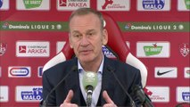 Réaction de Jean-Marc Furlan et Faruk Hadzibegic après Stade Brestois 29 - Red Star