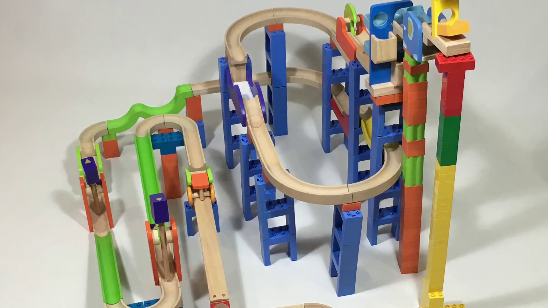 Longest Marble Run Trix Track Ball Run Combination 4 Sets Marble Maze || Keith's Toy Box