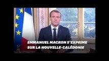 Emmanuel Macron s'exprime sur le référendum en Nouvelle-Calédonie