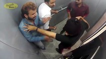People Trapped With Killers In Lift - Caught On CCTV _ Pranks In India _ Prankba