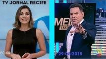 Final Notícias da Manhã e inicio Primeiro Impacto com Marcão do Povo (29/08/2018) | TV Jornal SBT PE