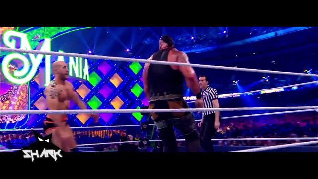 The Bar vs Braun Strowman & Nicholas Wrestlemania 34 en español