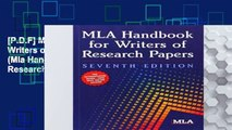 [P.D.F] MLA Handbook for Writers of Research Papers (Mla Handbook for Writers of Research Ppapers)