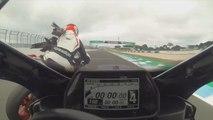 Un pilote de moto percuté par des oiseaux sur un circuit