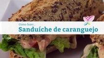 Como fazer um sanduíche de caranguejo
