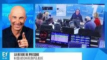 """Nikos Aliagas après l'interview exclusive d'Emmanuel Macron : """"Jean-Michel Aphatie m'a baisé la main"""" (Canteloup)"""