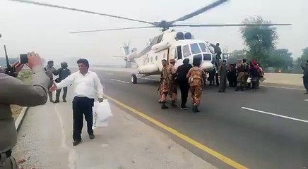 army rescue sikh yatri from motorway during protest