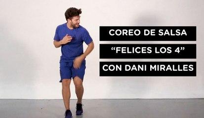 Aprende la coreografía de Felices los 4
