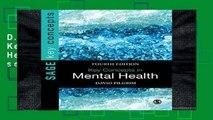 D.O.W.N.L.O.A.D [P.D.F] Key Concepts in Mental Health (SAGE Key Concepts series) [E.P.U.B]