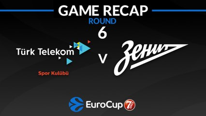7Days EuroCup Highlights Regular Season, Round 6: Turk Telekom 81-75 Zenit