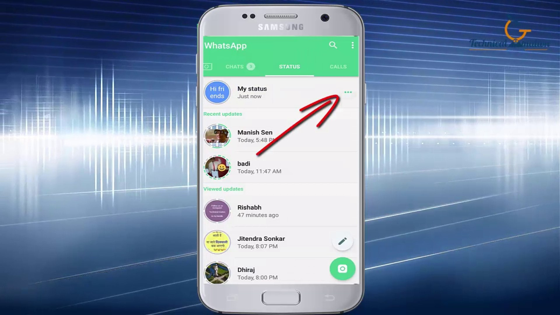 How to see whatsapp status without notifying