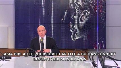 """""""Il faut accueillir Asia Bibi en France, c'est l'honneur de la France"""" France Info 07/11/2018"""