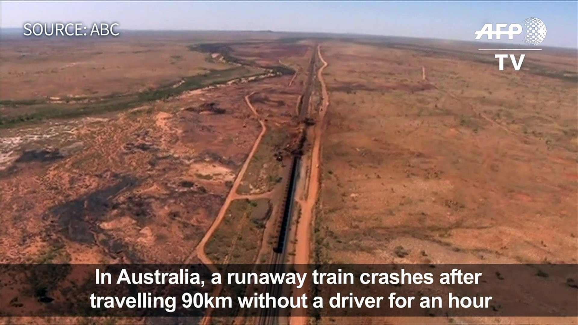 Runaway mining train travels 90 km without driver