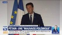 """Pétain: Griveaux dénonce une """"mauvaise polémique"""" et cite de Gaulle"""