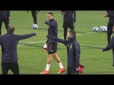 Cristiano Ronaldo Trains With Juventus Teammates Before Manchester United Champions League Match