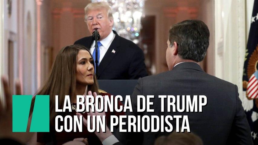 La bronca de Trump con un periodista