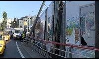 İstanbul'da tramvay kazası: Seferler durdu